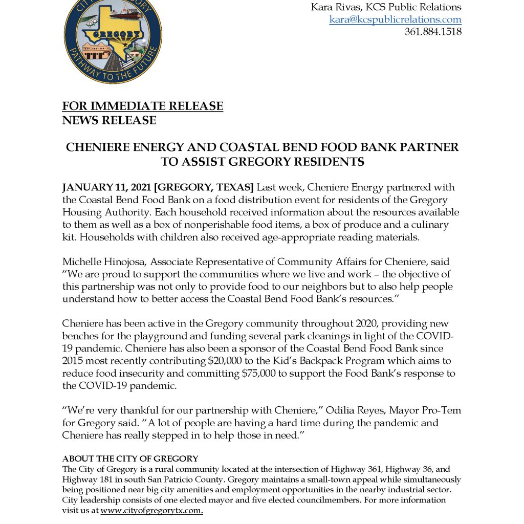 Click here to download press release.